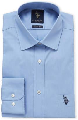 U.S. Polo Assn. Ice Blue Slim Fit Dress Shirt