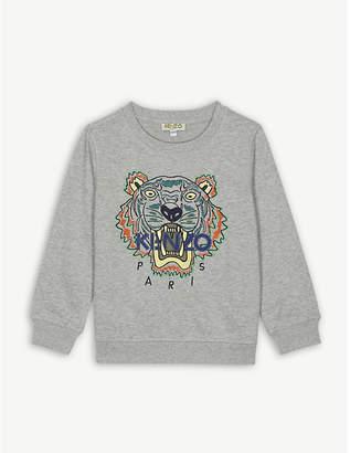Kenzo Tiger motif cotton-blend sweatshirt 4-16 years