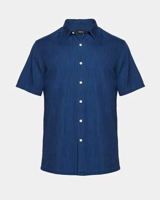 Theory Tencel Standard-Fit Short-Sleeve Shirt