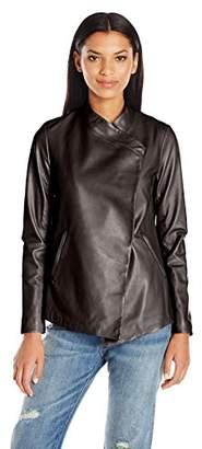 Mackage Women's Lemma Leather Wrap Jacket