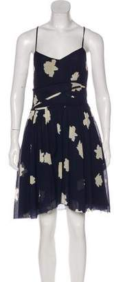 Band Of Outsiders Floral Print A-Line Dress