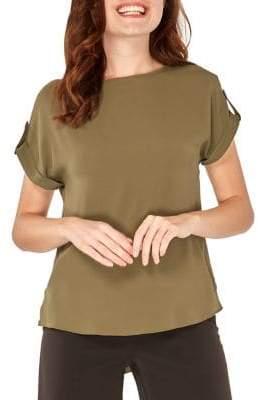 Dorothy Perkins Short Sleeve Roll-Tab Shirt
