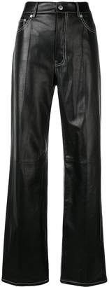 Helmut Lang high waisted flared trousers