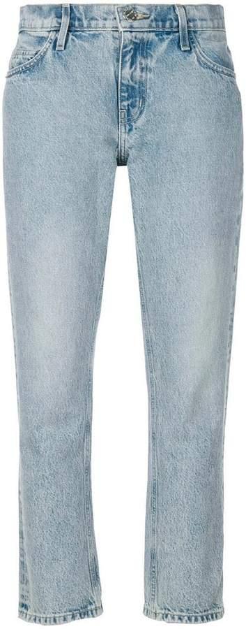 Current/Elliott cropped straight-leg jeans