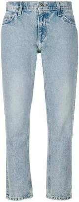 Current/Elliott cropped straight-leg jeans