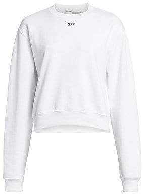Off-White Women's Basic Cropped Crewneck Sweater