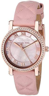 Michael Kors Women's Quartz Stainless Steel and Leather Casual Watch