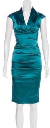 Nicole Miller Cap Sleeve Midi Dress