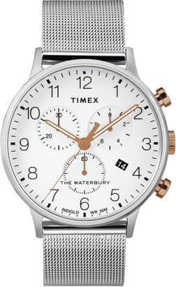 Timex R) Waterbury Chronograph Mesh Strap Watch, 40mm