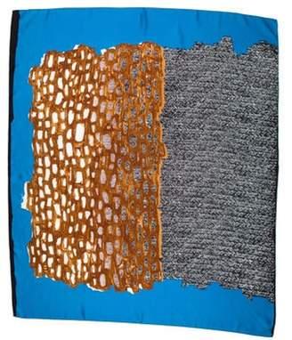 Balenciaga Silk Printed Scarf Brown Silk Printed Scarf