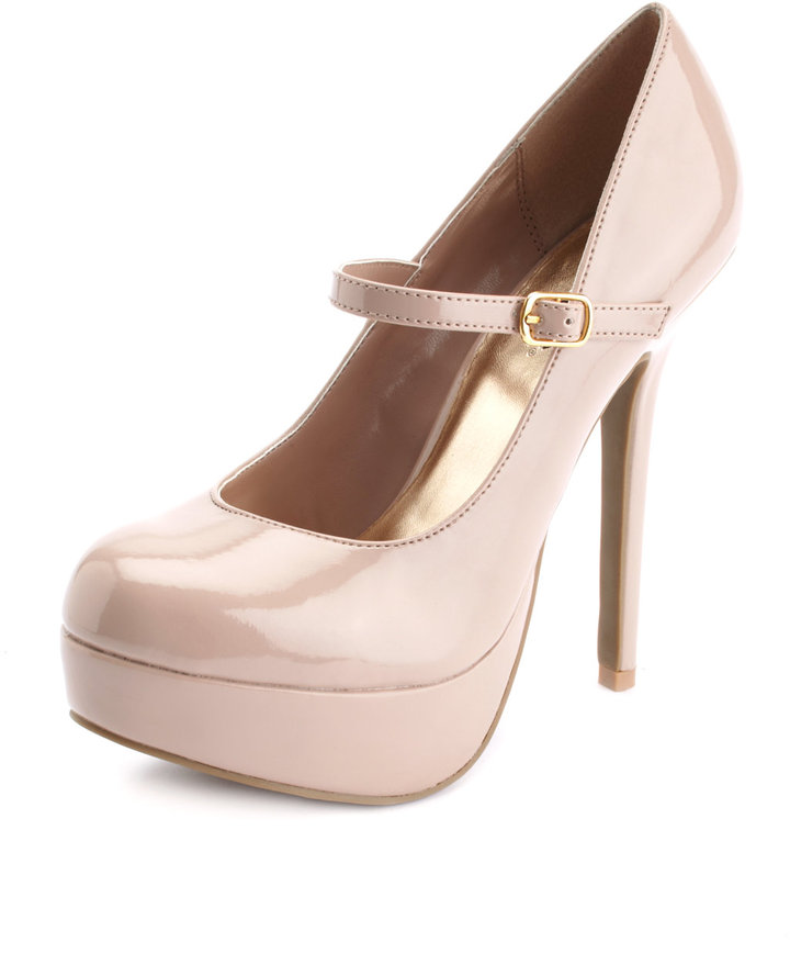 Patent Mary Jane Platform Pump