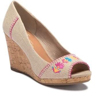 Toms Stella Burlap Wedge Sandal