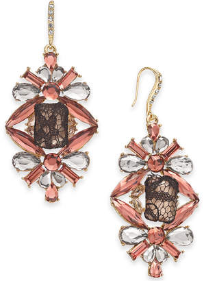 INC International Concepts I.N.C. Gold-Tone Crystal, Stone & Mesh Drop Earrings, Created for Macy's