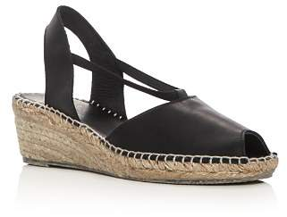 Andre Assous Women's Dainty Leather Slingback Espadrille Sandals