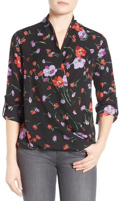 Women's Pleione Faux Wrap Blouse $68 thestylecure.com