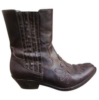 Ash Leather western boots