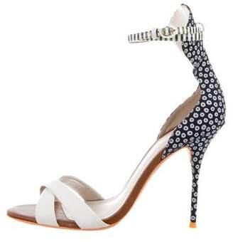 Sophia Webster Patterned Ankle Strap Sandals