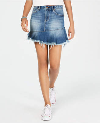 American Rag Juniors' Ruffled Denim Mini Skirt, Created for Macy's