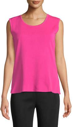 Misook Plus Size Scoop-Neck Wide-Shoulder Knit Tank Top
