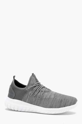 boohoo Knitted Sock Detail Trainer