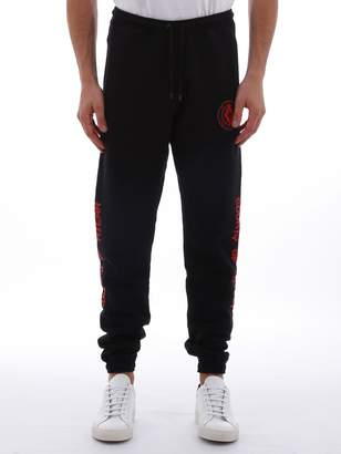 Marcelo Burlon County of Milan Sweatpants With Red Logo