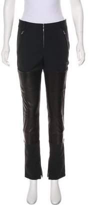 3.1 Phillip Lim Leather-Trimmed Mid-Rise Pants
