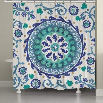 Buy Laural Home® Coastal Medallion Shower Curtain!