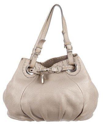 FendiFendi Tumbled Leather Shoulder Bag