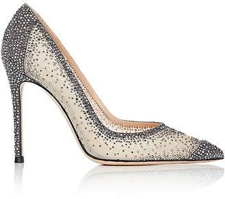 Gianvito Rossi Women's Rania Crystal-Embellished Pumps