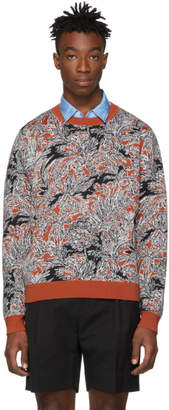 3.1 Phillip Lim Tan Floral Palm Tree Sweater
