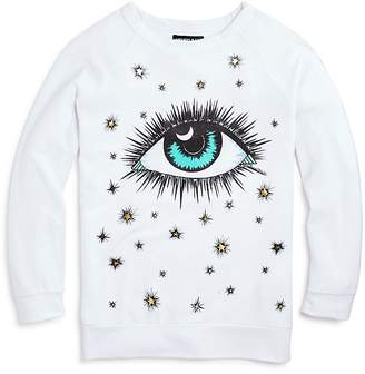 Lauren Moshi AQUA x Girls' Cosmic Eye Pullover, Big Kid - 100% Exclusive