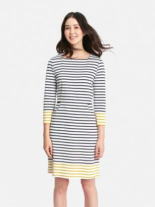 Joules Yvonne Square Neck Interlock Dress With Pockets - Printed