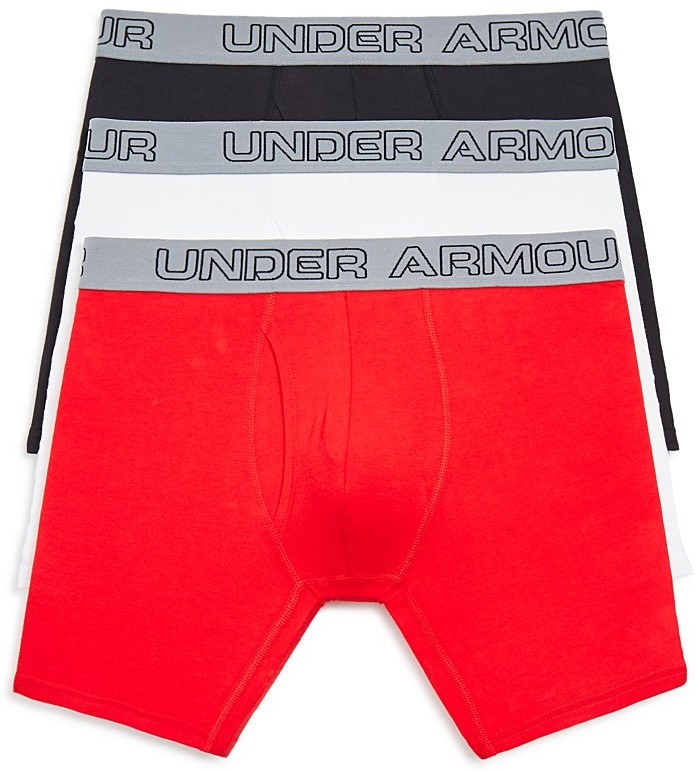 Under Armour Charged Cotton Boxer Briefs, Pack of 3