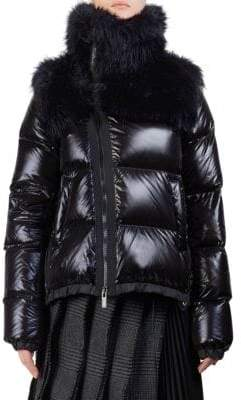 Sacai Faux-Fur Down Puffer
