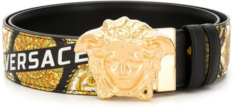 Versace barocco print medusa belt