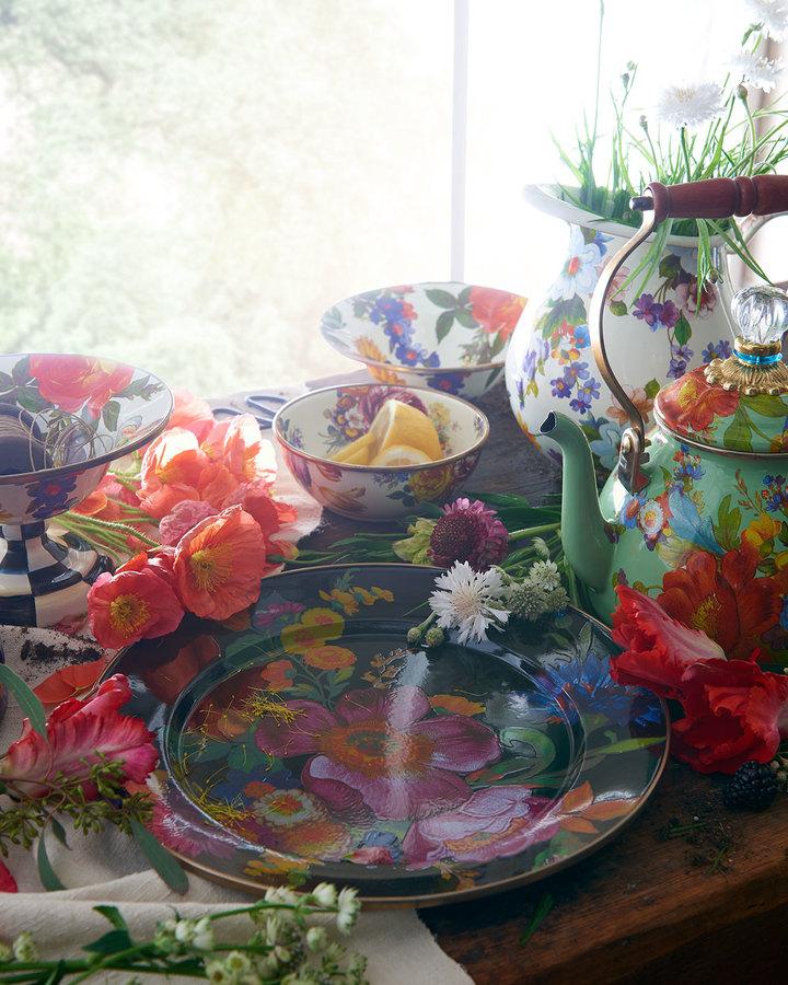 Mackenzie Childs MacKenzie-Childs Flower Market White Two-Quart Tea Kettle