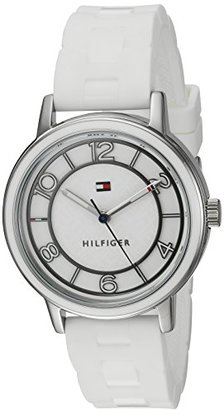Tommy Hilfiger (トミー ヒルフィガー) - Tommy Hilfiger Women 's Quartzステンレススチールand SiliconeカジュアルWatch , Color : White ( Model : 1781667 )