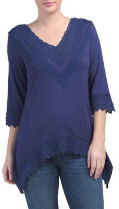 Three-quarter Sleeve Crochet Top