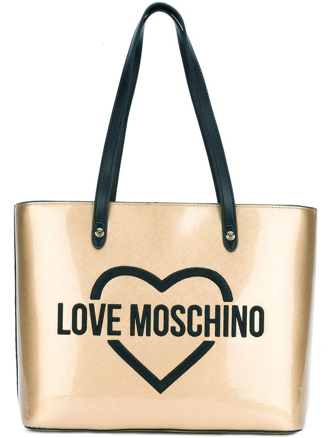 Love MoschinoLove Moschino logo print tote bag