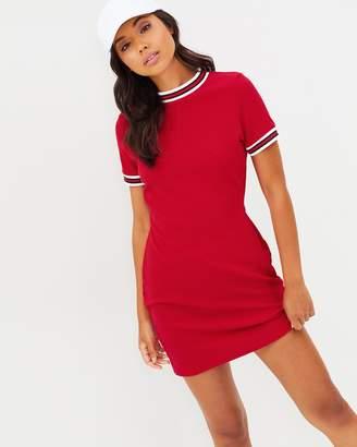 Missguided Sports Stripe Trim T-Shirt Dress