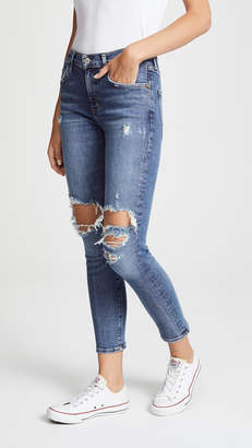 A Gold E AGOLDE Sophie High Rise Skinny Crop Jeans