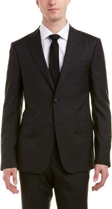 Ermenegildo Zegna Wool Suit With Flat Front Pant
