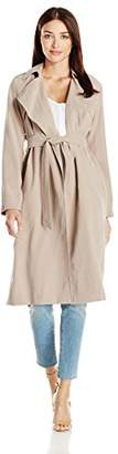 Cole Haan Women's Drapey Loose Belted Trench