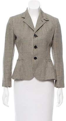 Ralph Lauren Purple Label Houndstooth Linen Blazer