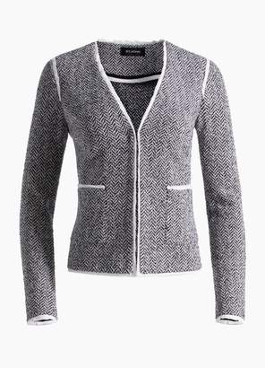 St. John Abby Knit V-Neck Jacket