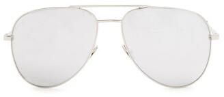 Saint Laurent Classic Aviator Sunglasses - Womens - Silver