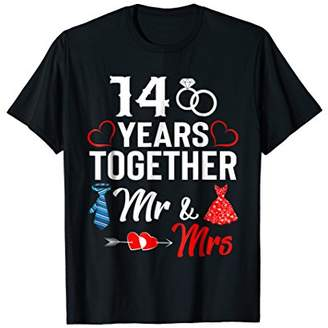 14th Wedding Anniversary Gift For Her and Him Couples Shirt