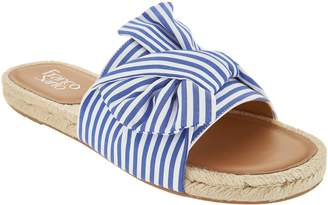 Franco Sarto Espadrille Slide Sandals - Phantom