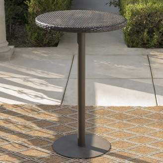 Bronx Ivy Crater Contemporary Outdoor Bar Table