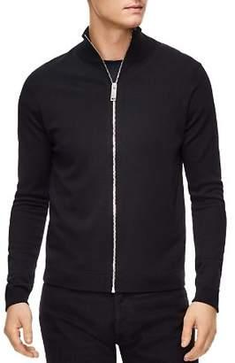Sandro Zip-Front Wool Cardigan Sweater